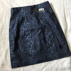 Elie Tahari NWT Reptile Linen Blend Madison Skirt